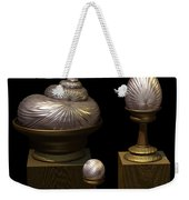 Faberge Style White Gold Weekender Tote Bag