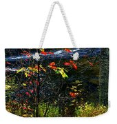Fall Forest And River Weekender Tote Bag