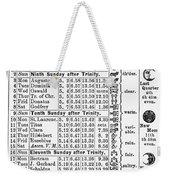 Family Almanac, 1874 Weekender Tote Bag