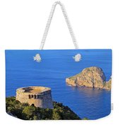 Famous Tower Of Savinar On Ibiza Island Weekender Tote Bag