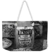 Fatoff Obesity Cream Bottled Electricity Store Window Ghost Town Virginia City Montana 1971 Weekender Tote Bag