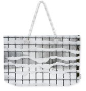 Fence With Snow Weekender Tote Bag