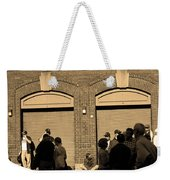 Fenway Park - Fans And Locked Gate Weekender Tote Bag by Frank Romeo