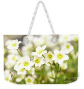 Field Of White Blossoms Weekender Tote Bag