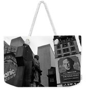 Film Homage The Fighting 69th 1940 Fr. Duffy Statue Yul Brynner Palace Theater New York 1977 Weekender Tote Bag