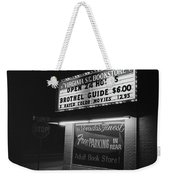 Film Noir Farewell My Lovely 1975 Brothel Guide Virginia St. Bookstore Reno Nevada 1979-2008 Weekender Tote Bag