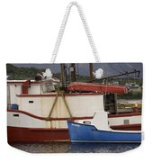 2 Fishing Boats At The Dock Weekender Tote Bag