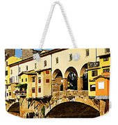 Florence Italy Ponte Vecchio Weekender Tote Bag