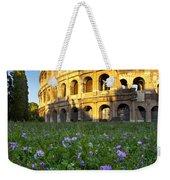 Flowers At The Coliseum Weekender Tote Bag