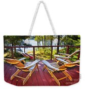 Forest Cottage Deck And Chairs Weekender Tote Bag by Elena Elisseeva
