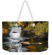 Forest River In The Fall Weekender Tote Bag