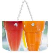 Fresh Orange Carrot And Watermelon Fruit Juice Weekender Tote Bag