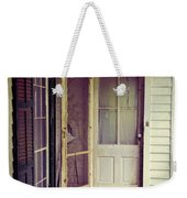 Front Door Of Abandoned House Weekender Tote Bag