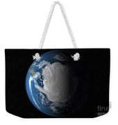 Ful Earth Showing Simulated Clouds Weekender Tote Bag by Stocktrek Images