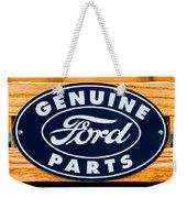 Genuine Ford Parts Sign Weekender Tote Bag