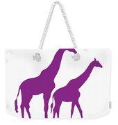 Giraffe In Purple And White Weekender Tote Bag
