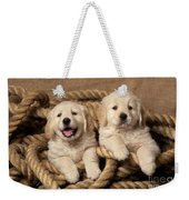 Golden Retriever Puppies Weekender Tote Bag