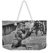 Gorilla Eats Black And White Weekender Tote Bag