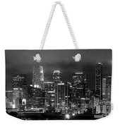 Gotham City - Los Angeles Skyline Downtown At Night Weekender Tote Bag