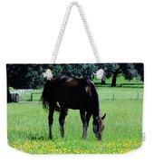 Grazing Horse In The Flowers Weekender Tote Bag