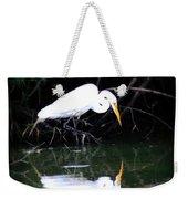 Great White Egret Weekender Tote Bag