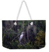 Lowcountry Marsh White Heron Weekender Tote Bag