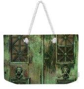 Green Doors Weekender Tote Bag
