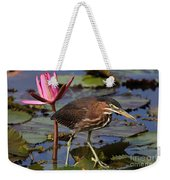 Green Heron Photo Weekender Tote Bag