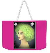 Green Velvet Weekender Tote Bag