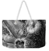 Growth On The Survivor Tree In Black And White Weekender Tote Bag