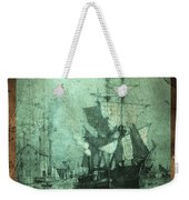 Grungy Historic Seaport Schooner Weekender Tote Bag