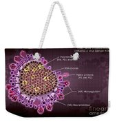 H1n1 Swine Influenza Virus Weekender Tote Bag