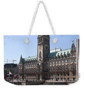 Hamburg - City Hall With Fleet - Germany Weekender Tote Bag