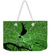 Hamburg Street Map - Hamburg Germany Road Map Art On Colored Bac Weekender Tote Bag