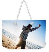 Happiness In The Beach Scenery Weekender Tote Bag