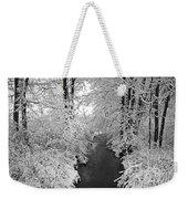 Heavy With Snow Weekender Tote Bag