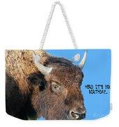 Herd Its Your Birthday Weekender Tote Bag