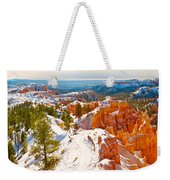 High Angle View Of Rock Formations Weekender Tote Bag