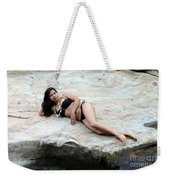 Hispanic Woman Waterfall Weekender Tote Bag