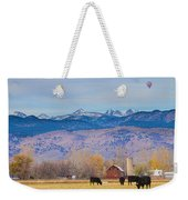 Hot Air Balloon Rocky Mountain Country View Weekender Tote Bag