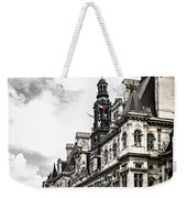Hotel De Ville In Paris Weekender Tote Bag by Elena Elisseeva