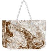 Howling Gray Wolf Weekender Tote Bag