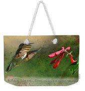 Hummingbird Morning With Verse Weekender Tote Bag