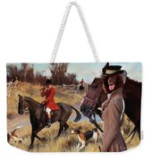 Irish Water Spaniel Art Canvas Print Weekender Tote Bag