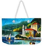 Italy Lake Como Villa Balbianello Weekender Tote Bag