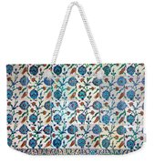 Iznik Ceramics With Floral Design Weekender Tote Bag