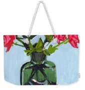 Jeff's Vase And Rodger's Roses Weekender Tote Bag