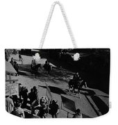 Johnny Cash Riding Horse Filming Promo Main Street Old Tucson Arizona 1971 Weekender Tote Bag