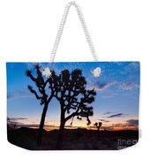 Josua Trees Beautifully Lit During Sunrise In Joshua Tree Nation Weekender Tote Bag