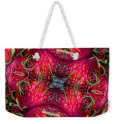 Kaleidoscope Made From An Image Of A Coleus Plant Weekender Tote Bag